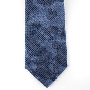 Michael Kors Neck Tie Blue Check Abstract Camo